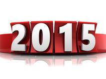 2015 new year. 3d illustration of sign 2015, new year Royalty Free Stock Photography