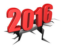 2016 new year. 3d illustration of 2016 year sign over white background Stock Photo