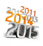 New year 2015. 3d Illustrations Royalty Free Stock Photo