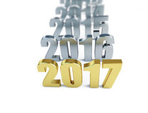New year 2017. 3d Illustrations Stock Images