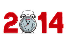 2014 new year. 3D image royalty free illustration