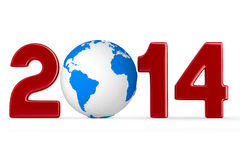 2014 new year. 3D image stock illustration