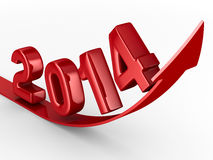 2014 new year. 3D image Stock Photos