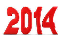 2014 new year. 3D image Royalty Free Stock Image