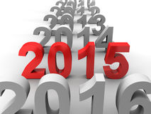 New Year 2015. 3D image of new year 2015 Stock Images