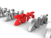 New Year 2015. 3D image of new year 2015 Royalty Free Stock Photography