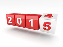 2015 new year. 3d image of 2015 text Royalty Free Stock Photo