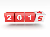 2015 new year. 3d image of 2015 text Stock Images