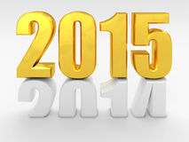 2015 new year. 3d image of 2015 text Royalty Free Stock Images