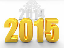 2015 new year. 3d image of 2015 text Royalty Free Stock Photography