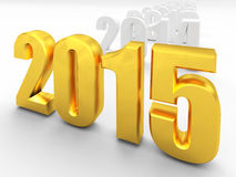 2015 new year. 3d image of 2015 text Stock Photo