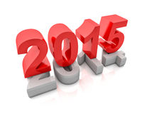 2015 new year. 3d image of 2015 text Stock Photography