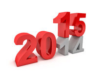 2015 new year. 3d image of 2015 text Stock Photos