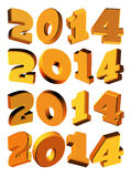 New Year 2014, 3D model Stock Photo