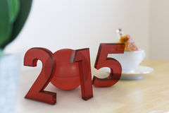 The new 2015 year in 3D Royalty Free Stock Image
