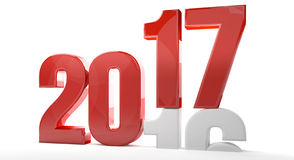 New year 3d redner 2017. New year 2017 3d render Stock Images