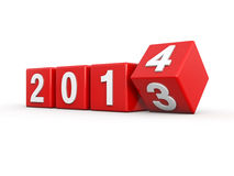 New year 2014. 3d render Royalty Free Stock Photos