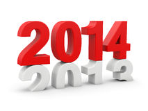 New year 2014. 3d render Royalty Free Stock Photo