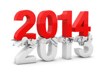 New year 2014. 3d render Stock Image