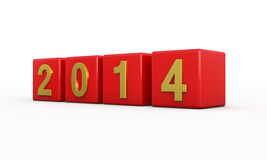 New year 2014. 3d render Royalty Free Stock Images