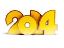 New year 2014. 3d render royalty free illustration