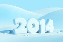 New year 2014. 3d render stock illustration