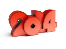 New year 2014. 3d render Royalty Free Stock Photography