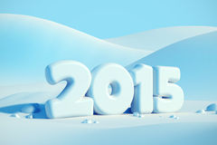 New year 2015. 3d render Royalty Free Stock Photography
