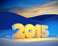 New year 2015. 3d render Stock Image