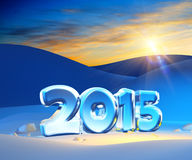New year 2015. 3d render Royalty Free Stock Photo