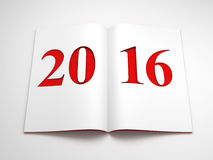 New year 2016, 3d render Royalty Free Stock Photography