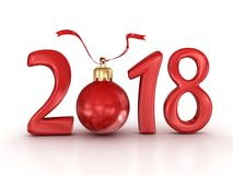 New year 2018 Royalty Free Stock Photos