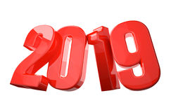 2019 new year 3d render 3d. 2019 new year 3d render illustration Stock Photos