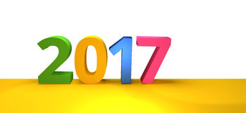 2017 new year 3d render. Graphic Stock Image