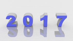 2017 new year,3D render Stock Photography