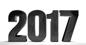 2017 new year  3d render sylvester number. Illustration Stock Photo