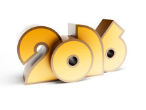 New year 2016, 3d render. Symbol of new year 2016, 3d render stock illustration