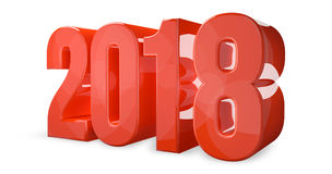 2018 new year 3d render symbol Royalty Free Stock Photos