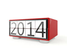 New Year 2014. 3d render of new year 2014 on white background royalty free illustration