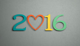 New Year 2016. 3d Rendered Image Royalty Free Stock Photos