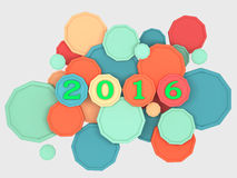 New Year 2016. 3d Rendered Image Royalty Free Stock Photography
