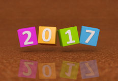New Year 2017. 3D Rendered Image Royalty Free Stock Images