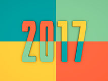 New Year 2017. 3D Rendered Image Stock Image