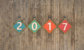 New Year 2017. 3D Rendered Image Stock Images
