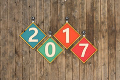New Year 2017. 3D Rendered Image Stock Photography