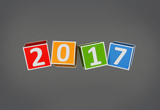 New Year 2017. 3D Rendered Image Stock Photos