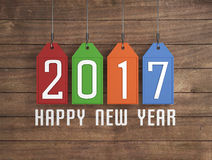 New Year 2017. 3D Rendered Image Royalty Free Illustration