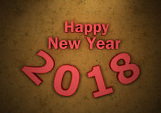 New Year 2018. 3D Rendered Image Royalty Free Stock Photography