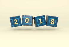 New Year 2018. 3D Rendered Image Royalty Free Stock Image