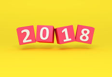 New Year 2018. 3D Rendered Image Stock Photo